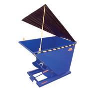 Vestil PLID-D-50 Heavy Duty Self- Dumping Hopper Lid-4