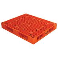 Vestil PLP2-4840-ORANGE Orange Plastic Pallet-1