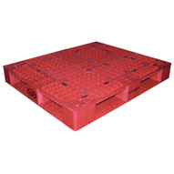 Vestil PLP2-4840-RED Red Plastic Pallet-1