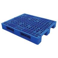 Vestil PLPR-4840-ST Rackable Blue Plastic Pallet-1