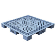 Vestil PLPS-4848 Grey Plastic Pallet-1
