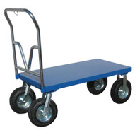 Vestil PNU-2448 Pneumatic Tire - Steel Platform Cart-1