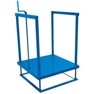 Vestil POS-3636-MAT Ergonomic Posi-crank Worker Platform-1