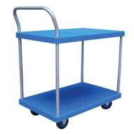 Vestil PSC-1828-2 Plastic Platform Truck - Two Shelf-1