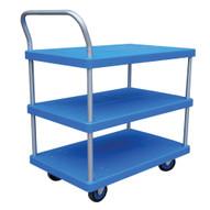 Vestil PSC-1828-3 Plastic Platform Truck - Three Shelf-1