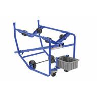 Vestil RDC-100-10 Revolving Drum Cart 1000lb 8rollers Dbl-2