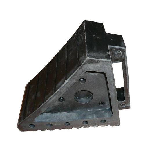 Vestil RWC-5 Molded Rubber Wheel Chock With Handle-1
