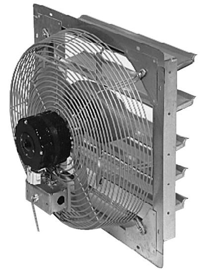 Vestil SME-18 Shutter Mounted Exhaust Fan-1