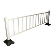 Vestil SPR-120-W Semi- Permanent Barrier - White Railing-3
