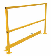 Vestil SQ-108-TB-HWR Steel Handrails W Hardware & Toeboard-1