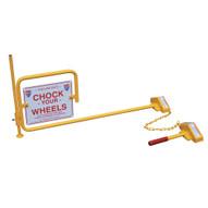 Vestil SRC FRC Single Steel Rail Chock W Flag Rail Chock-1