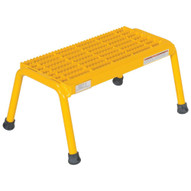 Vestil SSA-1-Y Alum Step Stand - 1 Step Welded Yell-3