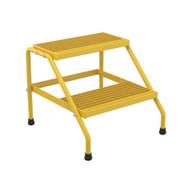Vestil SSA-2-KD-Y Alum Step Stand- 2 Step Knkdwn Yell-2