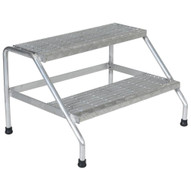 Vestil SSA-2W Aluminum Step Stand - 2 Step Wide Welded-3