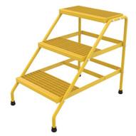 Vestil SSA-3-KD-Y Alum Step Stand- 3 Step Knkdwn Yell-1