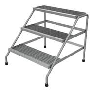 Vestil SSA-3W Aluminum Step Stand - 3 Step Wide Welded-1