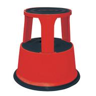 Vestil STEP-17-R Rolling Step Stool - Red-1