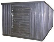 Vestil STOR-912-G-W-1RH Storage Building - Double - Galvanized-1