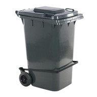 Vestil TH-64-GY-FL Grey Polyethylene Trash Can W lid Lifter-1