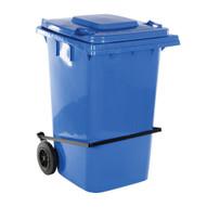 Vestil TH-95-BLU-FL Blue Polyethylene Trash Can W lid Lifter-1