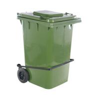 Vestil TH-95-GRN-FL Green Polyethylene Trash Can W lid Lifter-1