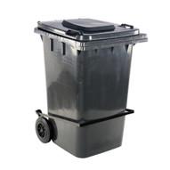 Vestil TH-95-GY-FL Grey Polyethylene Trash Can W lid Lifter-3