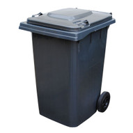 Vestil TH-95-GY Grey Polyethylene Trash Can-1
