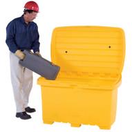 Vestil UBX-Y-NW Utility Box - Yellow - No Wheels-1