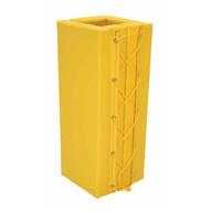Vestil V-PAD-S-35-Y Column Prot Yellow Pad Square 3ft 5in Yl-1