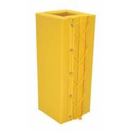 Vestil V-PAD-S-36-Y Column Prot Yellow Pad Square 3ft 6in Yl-1