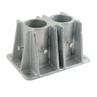 Vestil VDKR-P102 Pipe Safety Railing - Double Socket-1