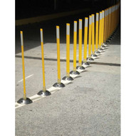 Vestil VGLT-16-2F-Y Flexible Surface Mount Stake - Yellow-1