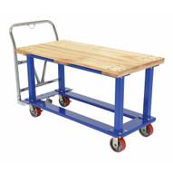 Vestil WHPT-2448-WT Work-height Platform Truck 24 X 48 Wood Top-1