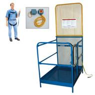 Vestil WP-4848-84B-FF Work Platform - Single Door-1