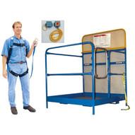 Vestil WP-4848-FF Work Platform - Single Door SAFETY PACKAGE-1