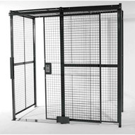 Vestil WPC-10X10-4C Wire Cage- 4-side W Ceiling 10ft X 10ft-1