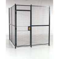 Vestil WPC-8X8-3NC Wire Cage- 3-sided No Ceiling 8ft X 8ft-1