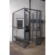 Vestil WPC-D-4X8-3 Wire Driver Cage - 3-sided 4 X 8-1