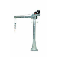 Vestil WTJ-20-3-AC-GAL Ac Powered Jib Crane 2k 3-5 Ft Boom Galv-1