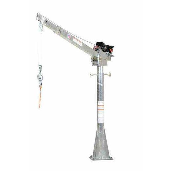 Vestil WTJ-20-4-AC-GAL Ac Powered Jib Crane 2k 4-7 Ft Boom Galv-1