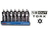 Vim Tools UJHCT1040 Universal Joint Half Cut Torxset On Mag Rail Base-1