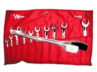 V8 Tools 8211 11 Piece Sae Flare Nut open End Wrench Set-1