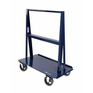 Jescraft WA-4824MR8-2R2S A Frame Cart - Heavy Duty A Frame Cart With 8 Mold On Rubber Casters (2 Rigid 2 Swivel)-1