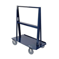 Jescraft WA-4824PL8-2R2S A Frame Cart - 48'' X 24'' Deck W 8'' Hpe On Polyolefin Core Casters (2 Rigid2 Swivel) Usable Load 8'' Per Side-1