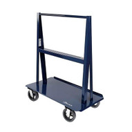 Jescraft WA-6024MR8-2R2S A Frame Cart - 60'' X 24'' Deck W 8'' Mold On Rubber Casters (2 Rigid2 Swivel) 60'' Vertical Usable Load 5'' Per Side-1