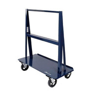 Jescraft WA-6024MR8-4S A Frame Cart - 60'' X 24'' Deck W 8'' Swivel Mold On Rubber Casters Usable Load 5'' Per Side-1
