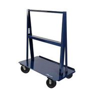 Jescraft WA-6024PH8-2R2S A Frame Cart - 60'' X 24'' Deck W 8'' Phenolic Casters (2 Rigid2 Swivel) 60'' Vertical Usable Load 5'' Per Side-1