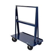 Jescraft WA-6024PH8-4S A Frame Cart - 60'' X 24'' Deck W 8'' Swivel Phenolic Casters Usable Load 5'' Per Side-1