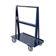 Jescraft WA-6024PL8-4S A Frame Cart - 60'' X 24'' Deck W 8'' Swivel Hpe On Polyolefin Core Usable Load 5'' Per Side-1
