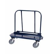 Jescraft WB-100PL-2R2S Drywall Cart - 12'' X 48'' Deck W 8'' Hpe Casters (2 Rigid2 Swivel)-1